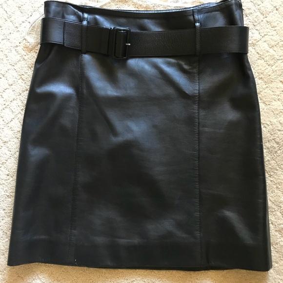 0b9648c6b96e Prada Skirts | Authentic Black Leather Skirt W Belt Eu 44 | Poshmark